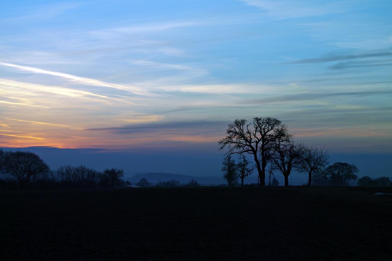 Sonnenaufgang über den Fildern