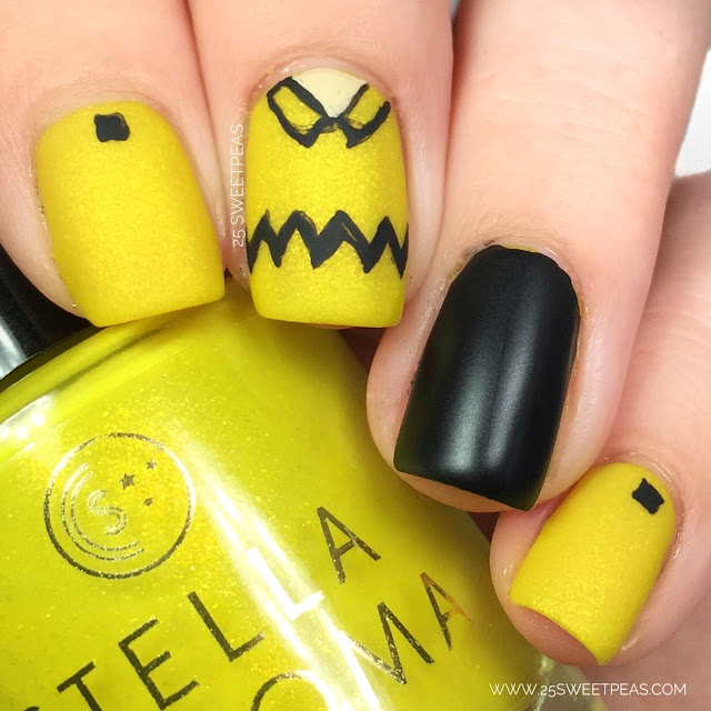 Charlie Brown Nail Art