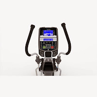 Nautilus E616's console with DualTrack 2 LCD screens, 29 programs, 25 ECB resistance levels, motorized 0-11% incline