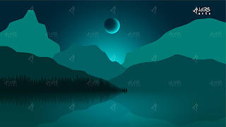 Shining Moon At The Lake B