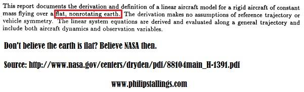 Philip stallings the biblical flat earth a response to answers in in addition nasa has even released a report which acknowledges that linear motion of aircraft occur over a flat non rotating earth publicscrutiny Image collections