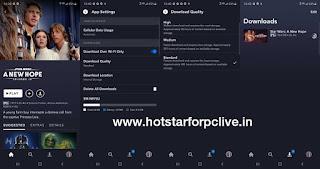 videos to SD card on Disney+ Hotstar