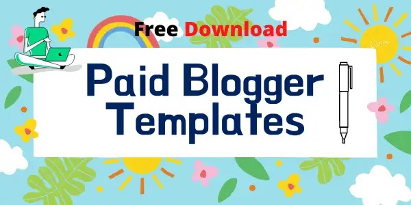 Paid blogger templates