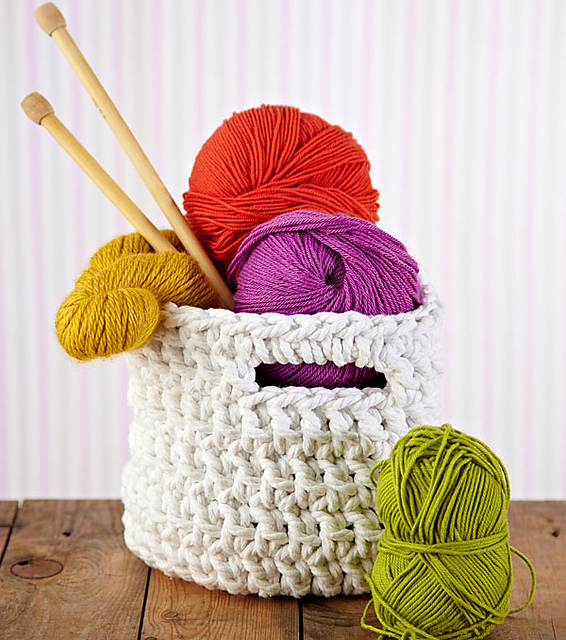 Free Pattern Crochet Basket : Fiber Flux: Crochet Baskets...12 Pretty Ways To Organize!