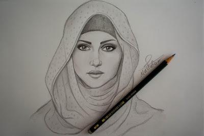 صور رسم فتاة بالحجاب رائعة جدا