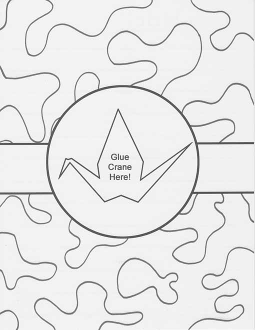 origami crane coloring pages   Cranes of Thanks: New coloring pages!