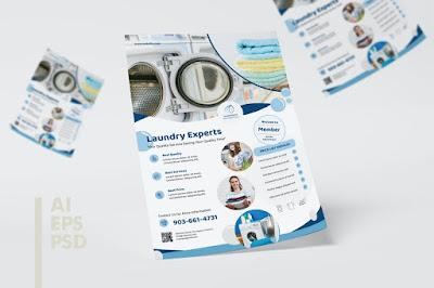 brosur laundry simple