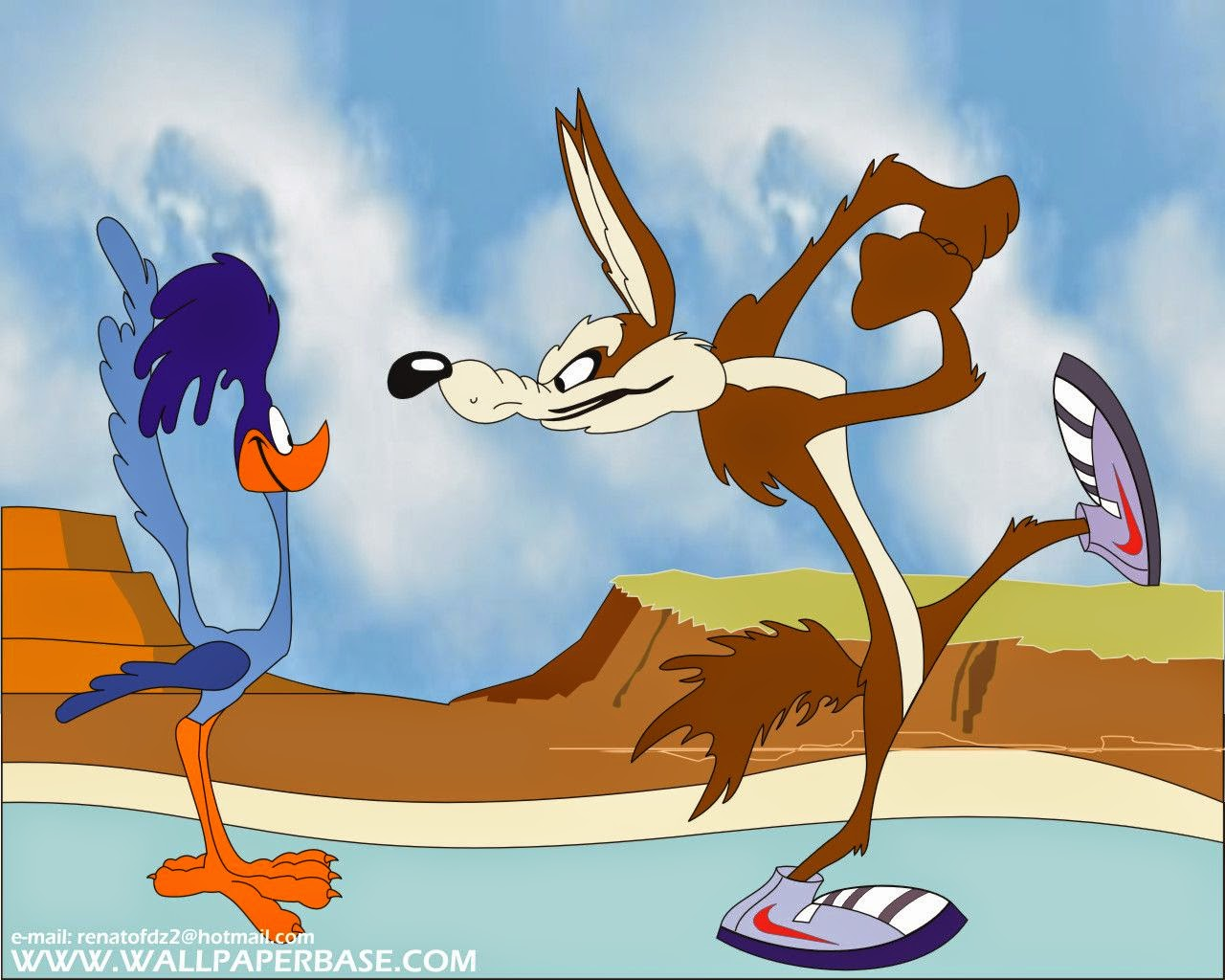 Wile e coyote and the road runner free printable invitations or cards oh my fiesta in english - Dessin de coyote ...