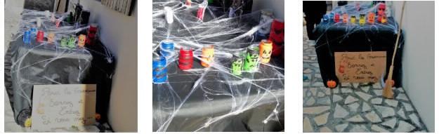 décoration complète halloween à faire avec enfants maternelle bocal papier toilette