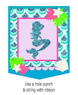 little mermaid birthday party banner
