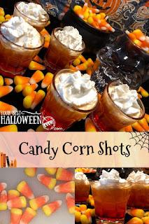 halloween drinks, easy candy corn vodka recipe, spooky cocktail