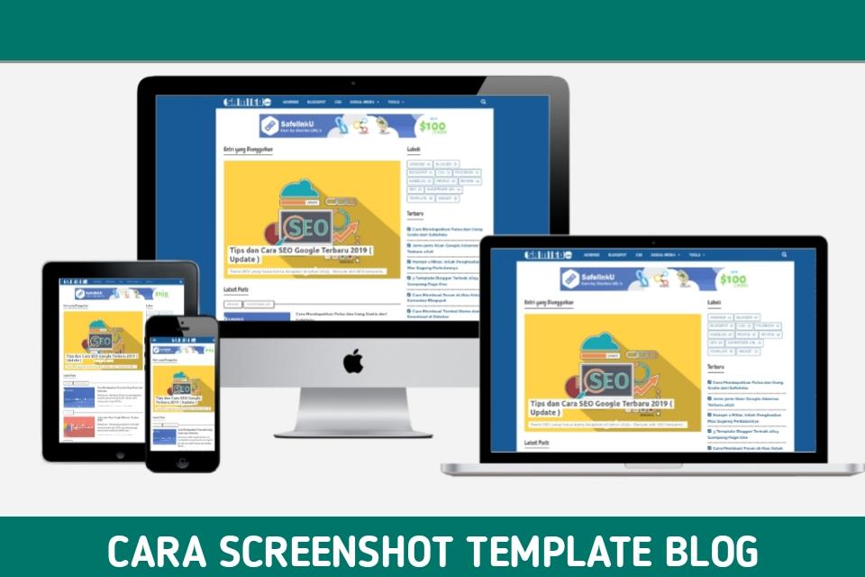 screenshot template blog, responsive