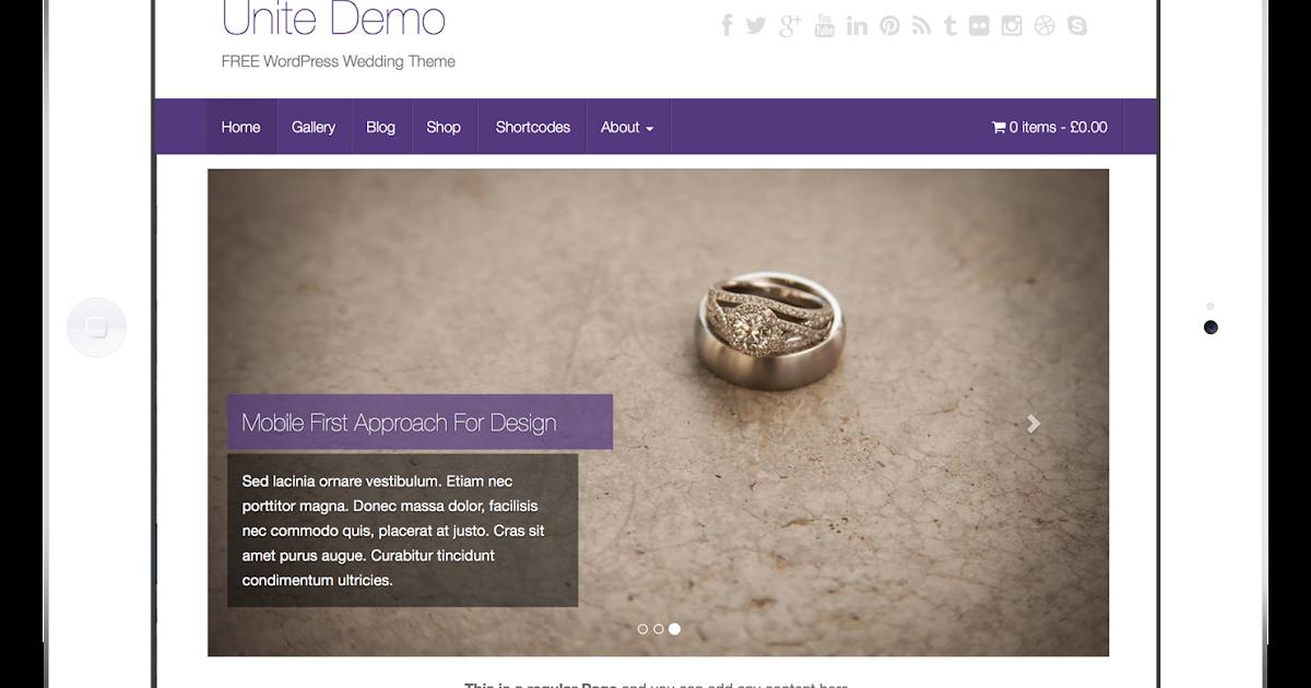 Unite Free Wordpress Wedding Theme Mytechtech