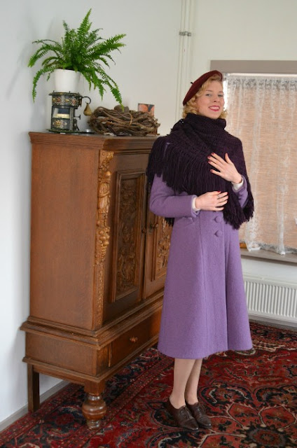 1930s Tailored Coat And Scarf Made By Anthea