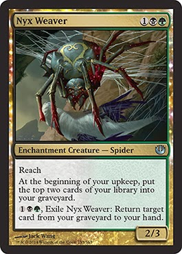 MtG expansion Journey into Nyx green black multicolored creature spider