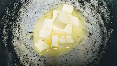 Melting butter for White sauce recipe