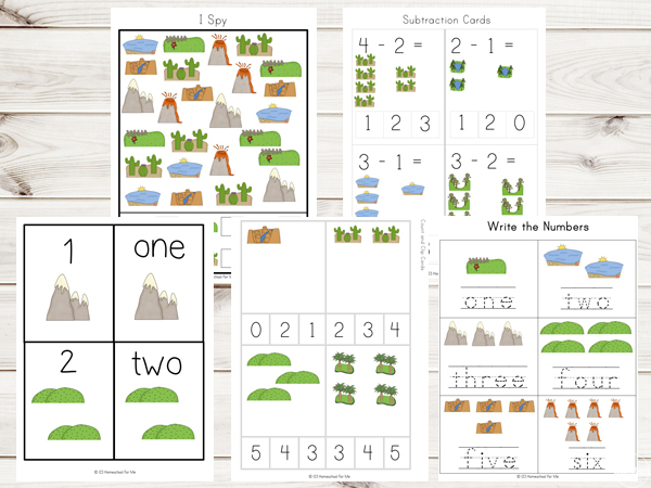 Free Landforms Worksheets