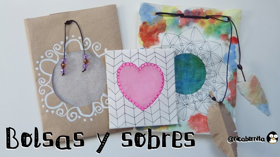 bolsas y sobres de papel para regalo, dulces, caramelos NICA BERNITA