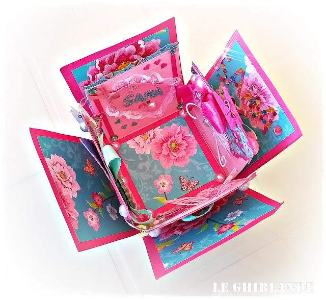 Le Ghirlande Blog Explosion Box rosa fucsia
