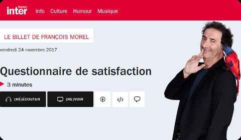 Billet de François Morel sur France Inter
