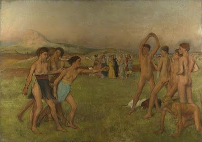 www.fertilmente.com.br - Na imagem, jovens espartanos se excercitam,todos nús, prática comum na epoca