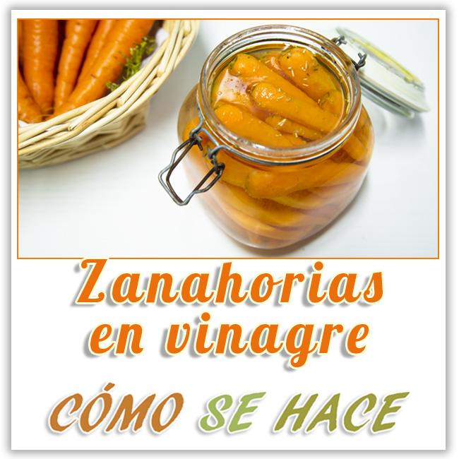 ZANAHORIAS ENCURTIDAS EN VINAGRE