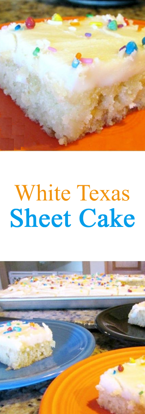 White Texas Sheet Cake