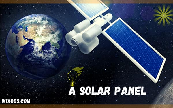 A solar panel launched into space: send electricity to earth