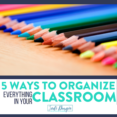 This Clutter-Free Classroom blog post is packed with tips and ideas for organizing your elementary classroom. It offers 5 ways of organizing all your tools, supplies, papers, and more. Check it out now! #classroomorganization #elementaryclassroom #classroomorganizationideas