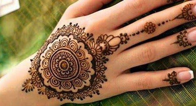 Mehndi Designs For Palm : Top simple mehndi designs for hands in different styles