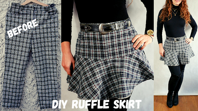 diy y2k inspired  Plaid Skirt  | Jak uszyć falbaniastą spódnicę diy