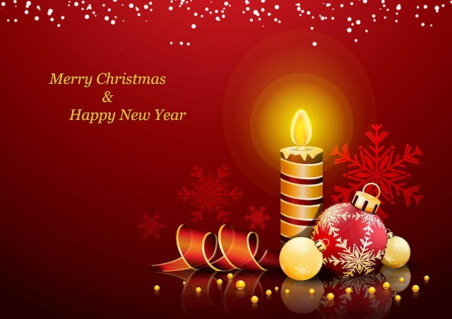 Merry Christmas and Happy New Year | Christmas and New Year Wishes Images HD Free