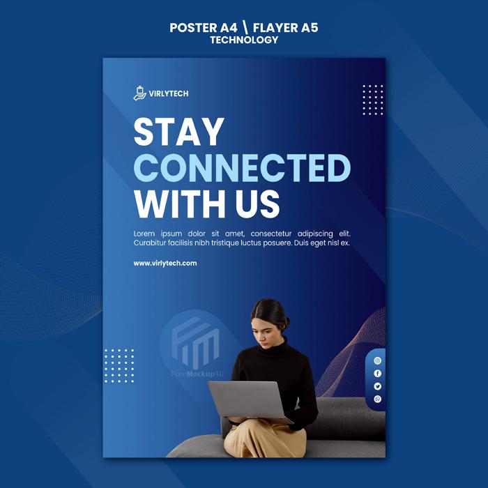 Technology Poster Flyer Psd Template