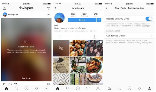 Instagram rolls out Two-factor authentication