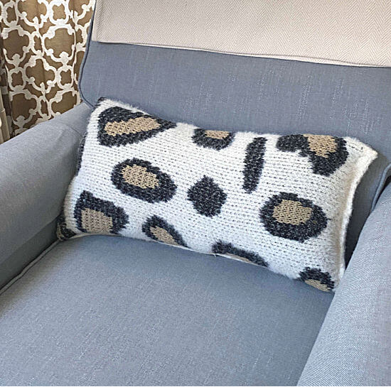 cheetah pillow made from a sweater