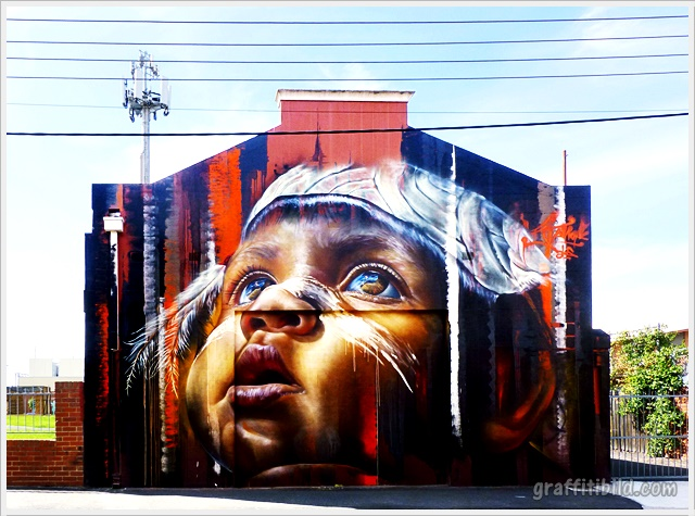 Cool Street Art Works in Melbourne
