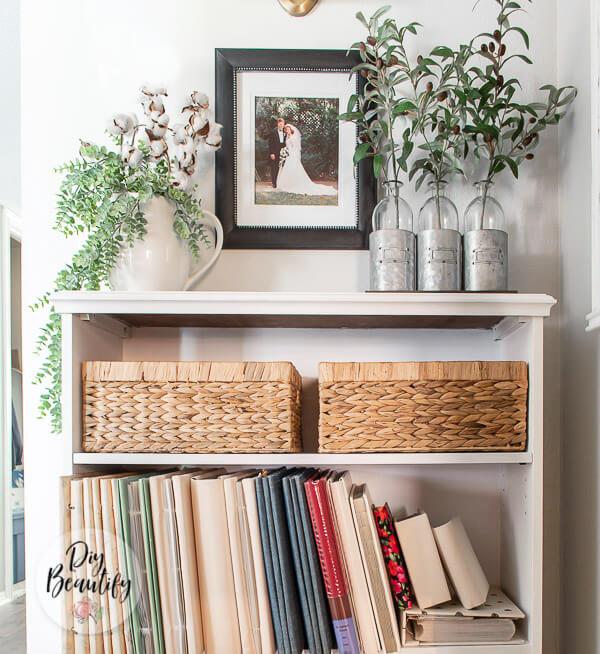 baskets and greenery