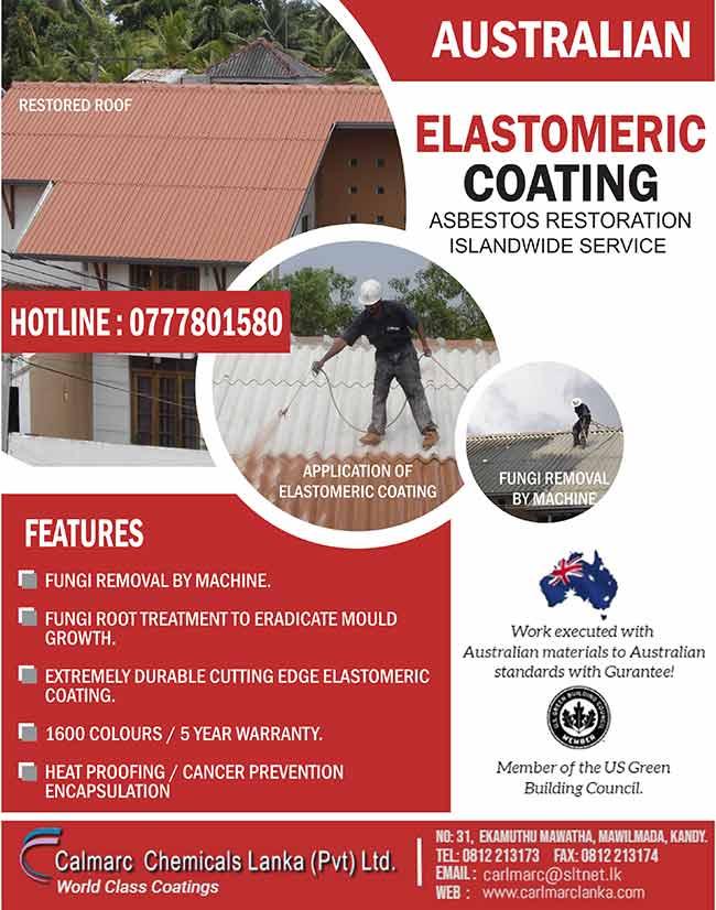 Calmarc Chemicals Lanka - Asbestos Roof Restoration
