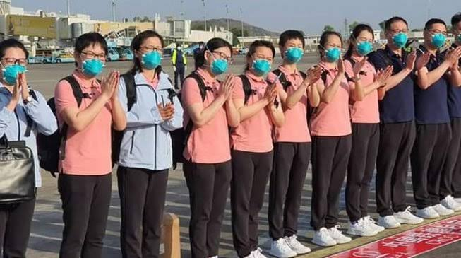 Breaking: Chinese Medical Team Arrives Nigeria For COVID-19 cure