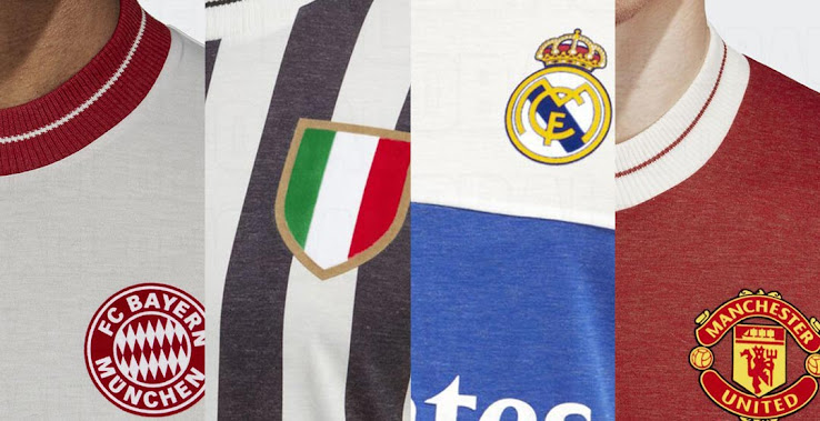 f218b177 Adidas will release stunning vintage kits for their's biggest clubs -  Manchester United, Real Madrid, Bayern Munich and Juventus. The new Adidas  2018 retro ...