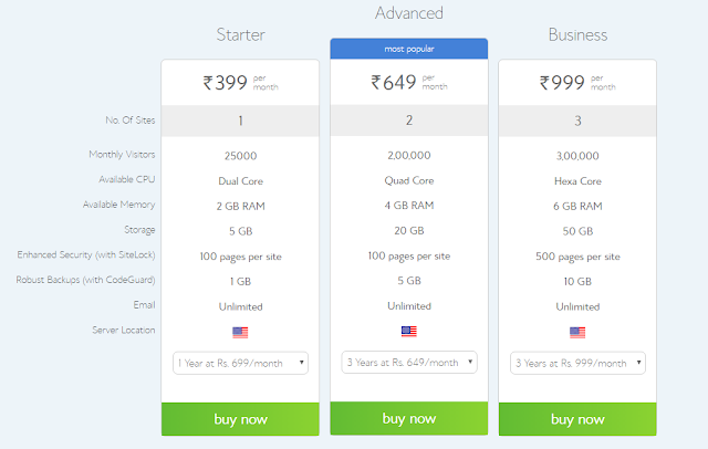 Bluehost all wordpress web hosting plans