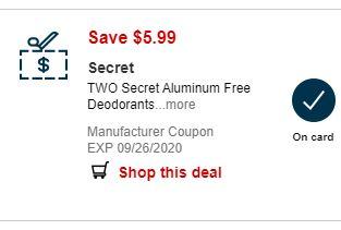 secret coupon
