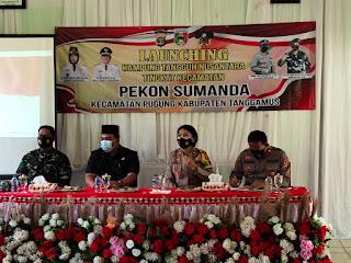 Wakapolres Tanggamus Launcing Kampung Tangguh Tingkat Kecamatan Pugung