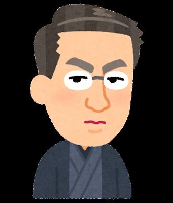 島崎藤村の似顔絵イラスト