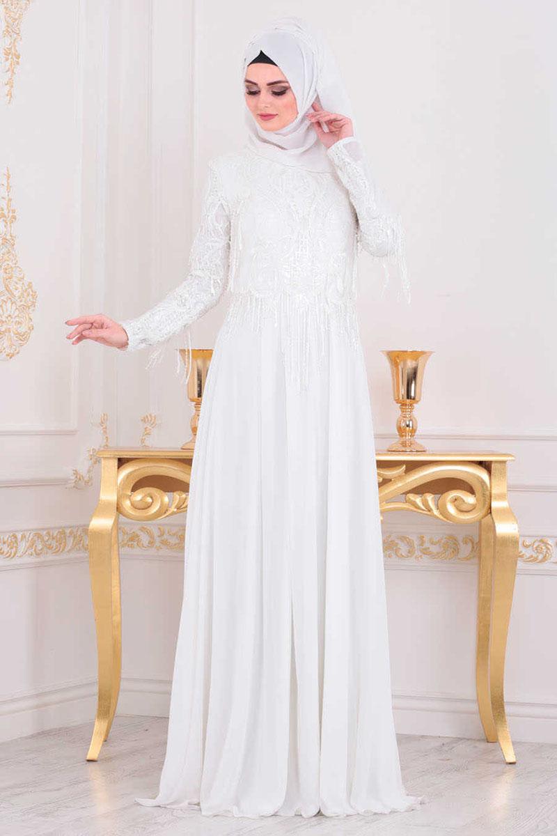 jilbab putih syar i untuk lebaran