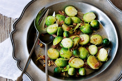 Brussels sprouts with bacon and pine nuts snack recipes
