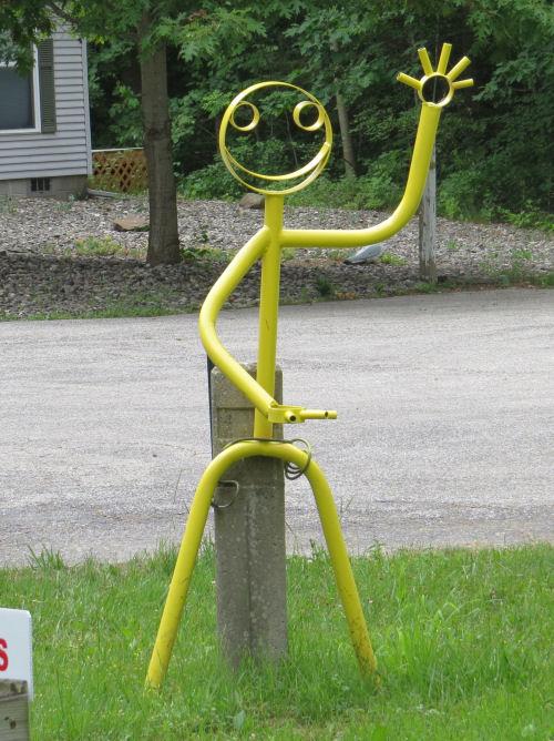 yellow smiling art man