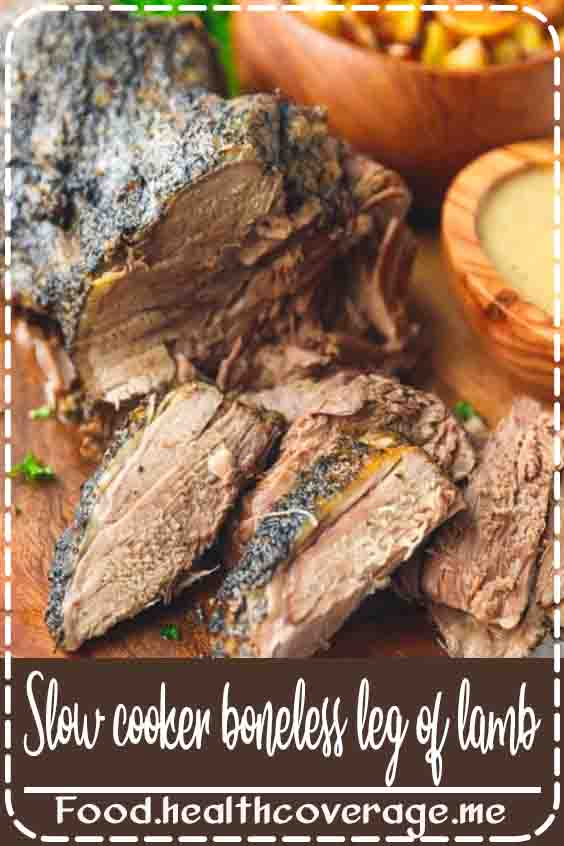 Slow Cooker Boneless Leg Of Lamb – boneless leg of lamb roast cooked in the slow cooker with just a few simple ingredients. Learn how to prepare, season and cook boneless leg of lamb in the crock pot. This recipe is perfect to make year round, but especially now around Easter.