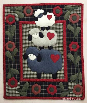 eefa25177f1a Fabadashery  Wooly Sheep Wall Quilt