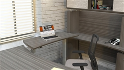 electric sit to stand executive workstation